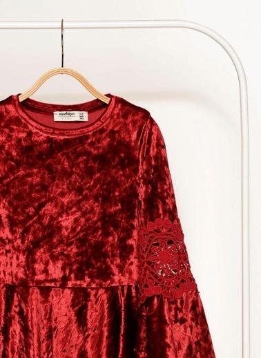 Morhipo Kids Dantel Kol Detaylı Elbise Kırmızı